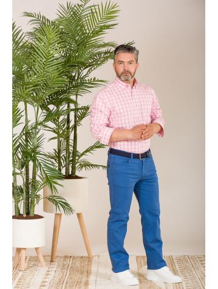 Pantalón gabardina elástica, KOYOTE