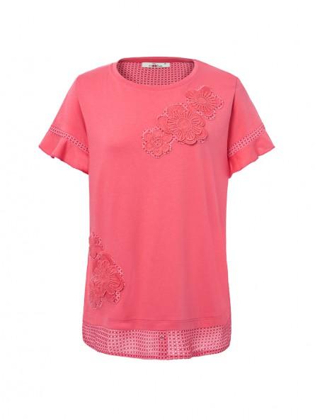 Camiseta apliques bordados, M/C