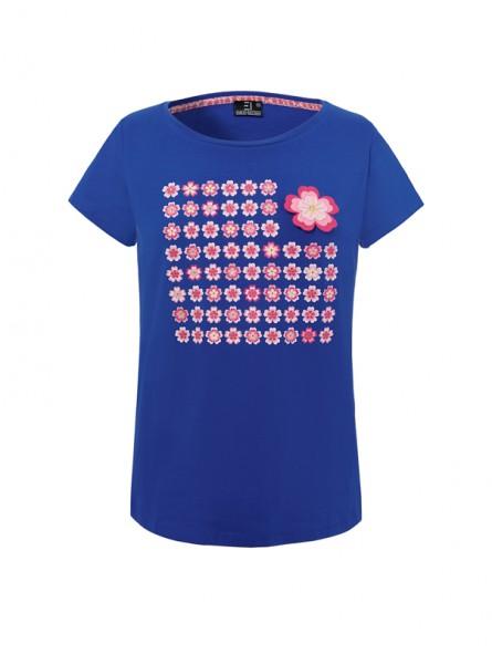 Camiseta flores, M/C
