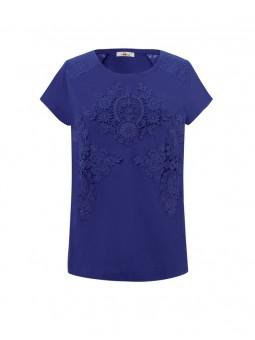Camiseta guipures, M/C