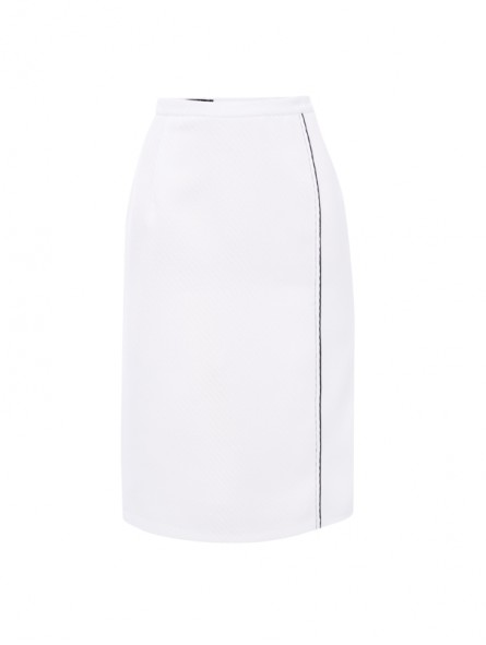 Falda tejido falso liso con tira