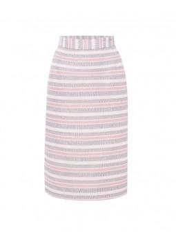 Falda rayas con detalles plata