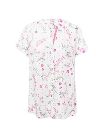 Camisa estampada flores M/C