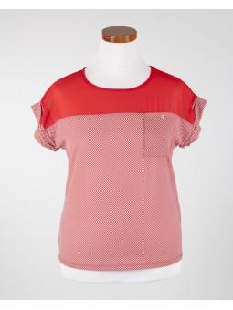 Camiseta topos combinada