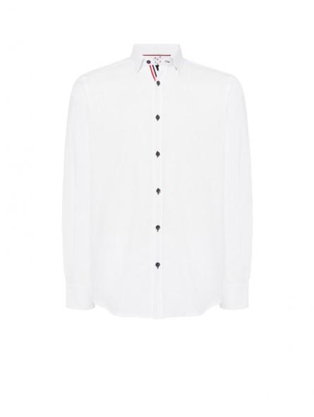 Camisa falso liso, coderas, M/L