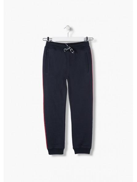 Pantalón de felpa con bandas laterales, LOSAN