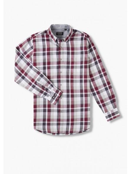 Camisa cuadros b/cuello, LOSAN