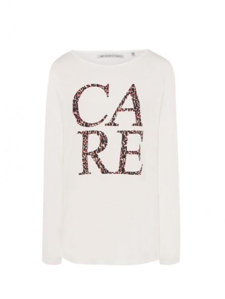 Camiseta mensaje animal print,  M/L