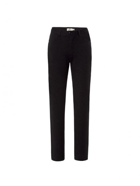 Pantalón falso liso, detalle strass