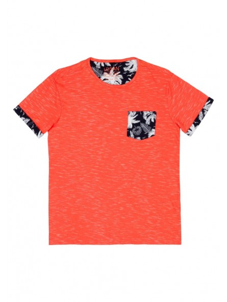 Camiseta bolsillo flores, LOSAN