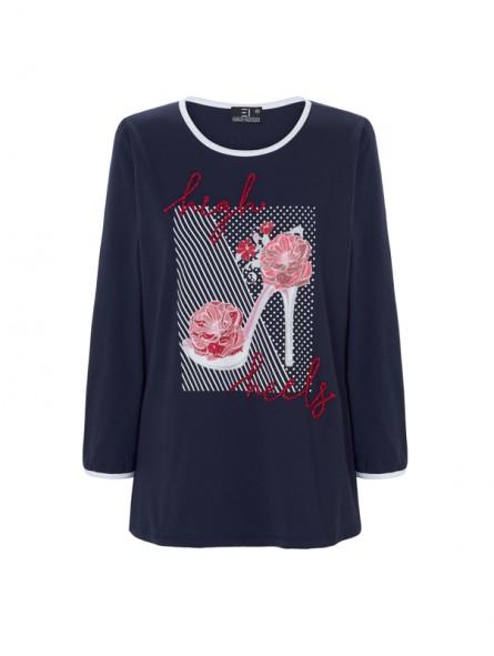 Camiseta gráfico bordado