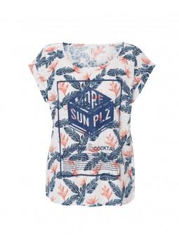 Camiseta estampada M/C