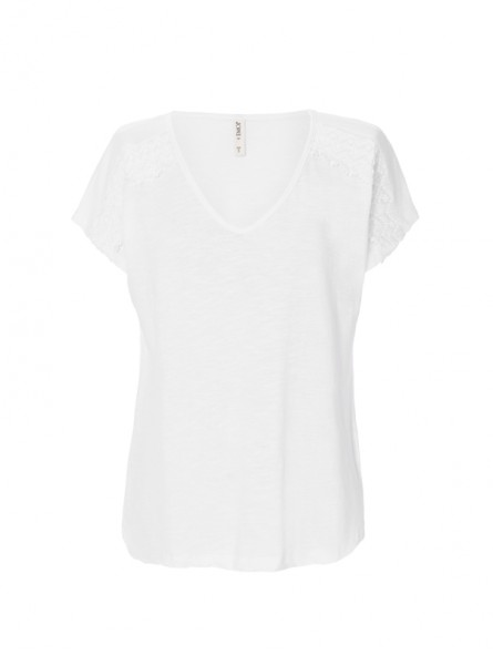 Camiseta lisa c/pico