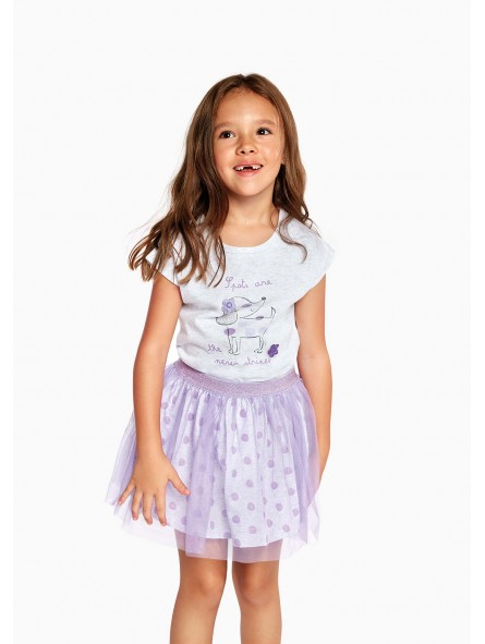 Falda topos con purpurina