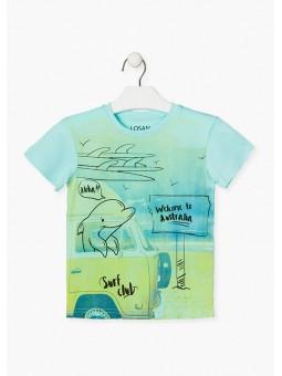 Camiseta estampado playero