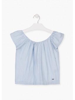 Blusa de rayas con cuello elástico