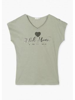 Camiseta mensaje c/pico, losan