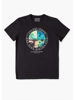 Camiseta motivos surferos, losan