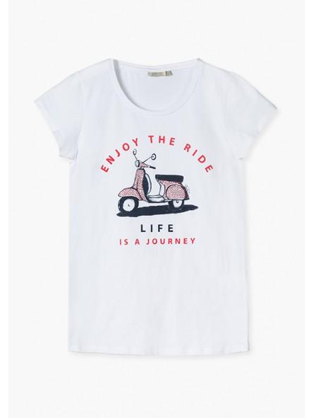 Camiseta moto, losan