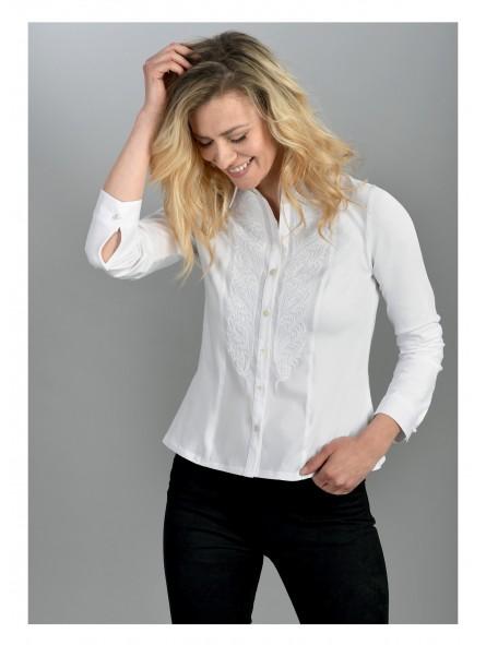 Camisa lisa bordada