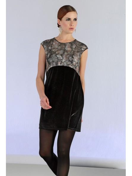 Vestido bicolor, M/sisas