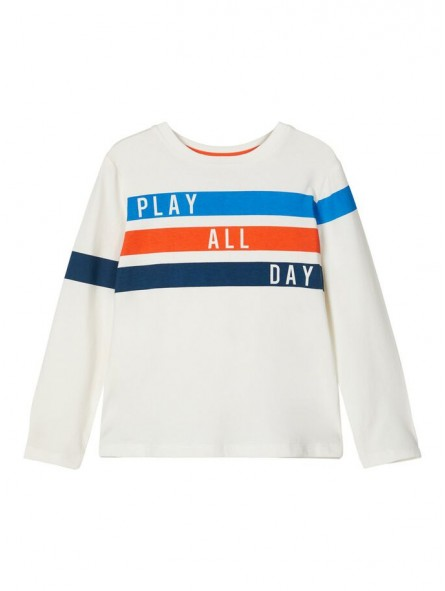 Camiseta blanca con estampado NAME IT