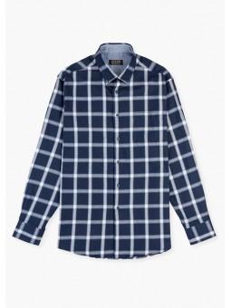 Camisa algodón de cuadros, LOSAN