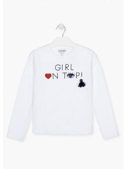 Camiseta con bordado, Losan