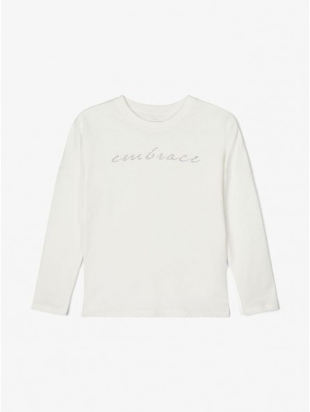 Camiseta mensaje brillos, Name it