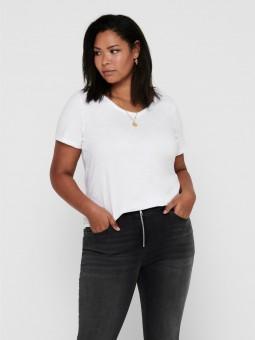 Camiseta básica c/pico, Only Carmakoma