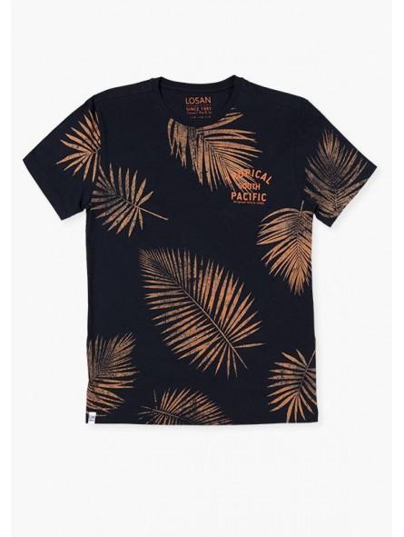 Camiseta estampado tropical, Losan