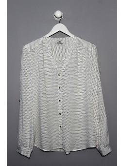 Camisa estampado lunares manga larga