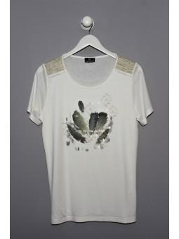 Camiseta gráfico con detalle dorados