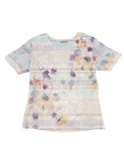 Camiseta estampada rejilla
