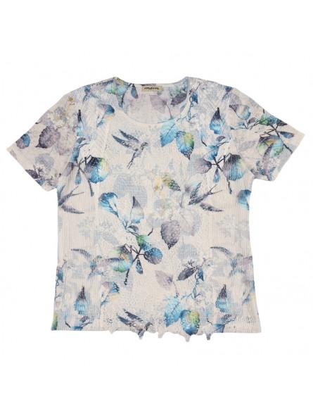 Camiseta estampado de flores