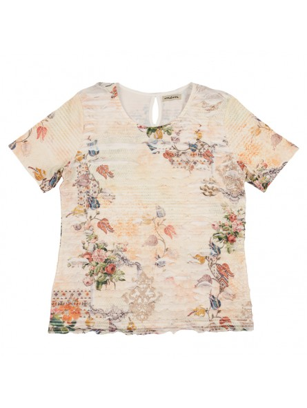 Camiseta estampada volantes