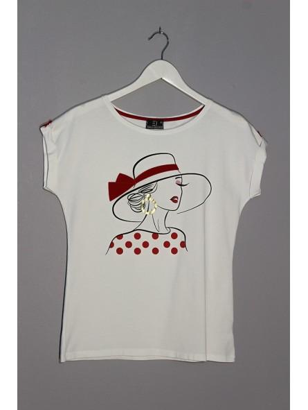 Camiseta gráfico estampado