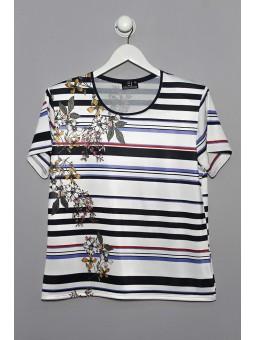 Camiseta estampado rayas