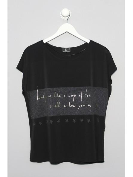 Camiseta lisa con mensaje