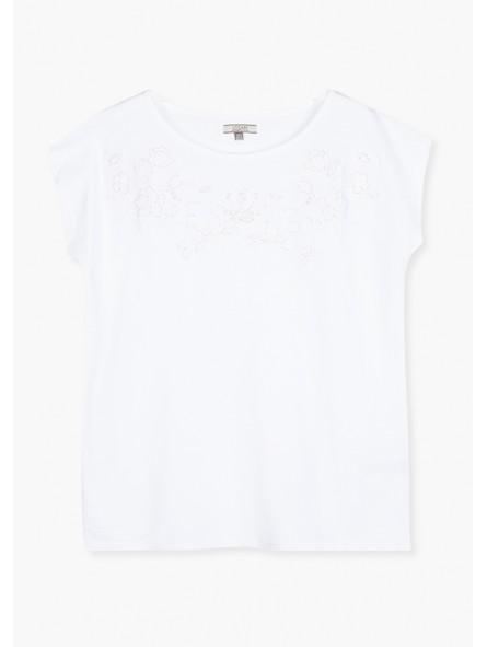 Camiseta bordado flores, Losan