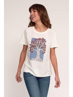 Camiseta estampado arbol