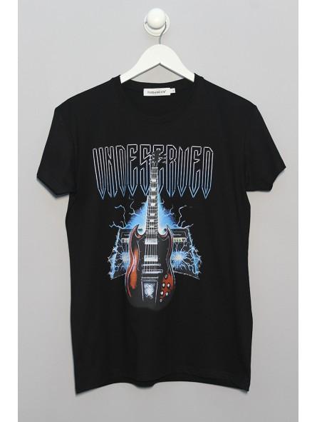 Camiseta gráfico guitarra