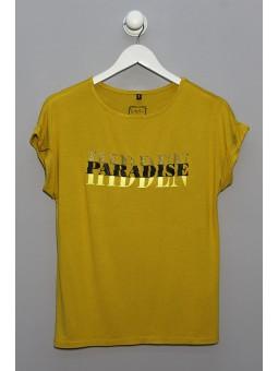 Camiseta mensaje Paradise