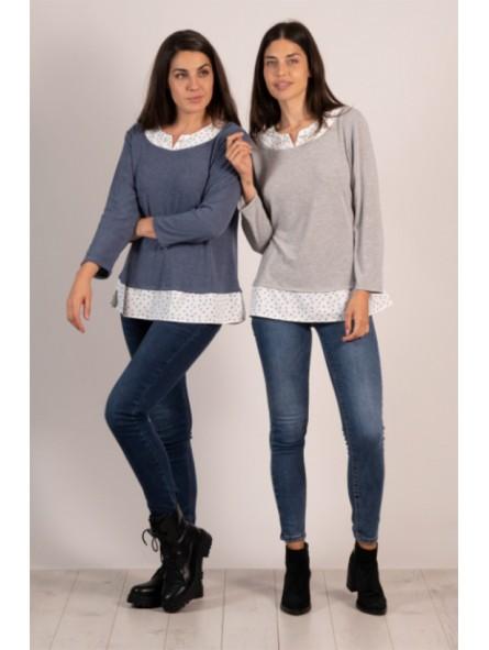 Camiseta efecto doble