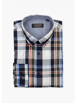 Camisa de cuadros, manga larga, Losan