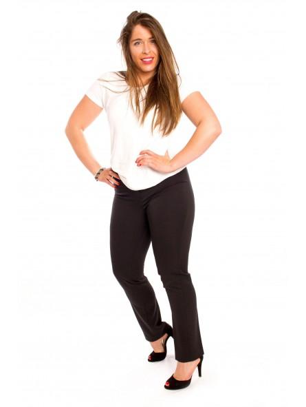 Pantalón de vestir con goma en cintura