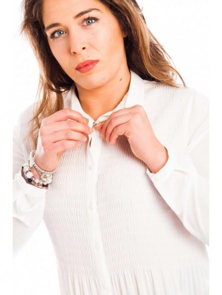 Camisa mujer plisada en crep