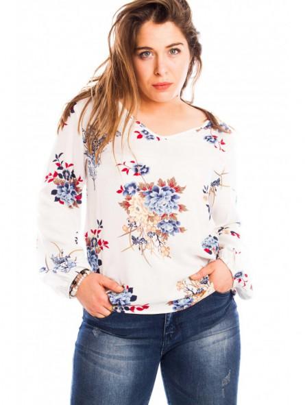 Blusa manga larga estampado floral