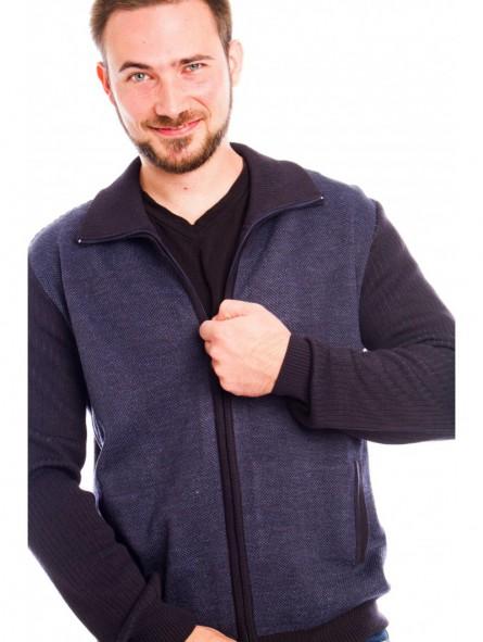 Chaqueta punto 50% lana merino con bolsillos