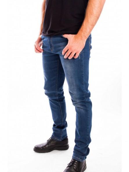 Pantalón vaquero elástico desgastado